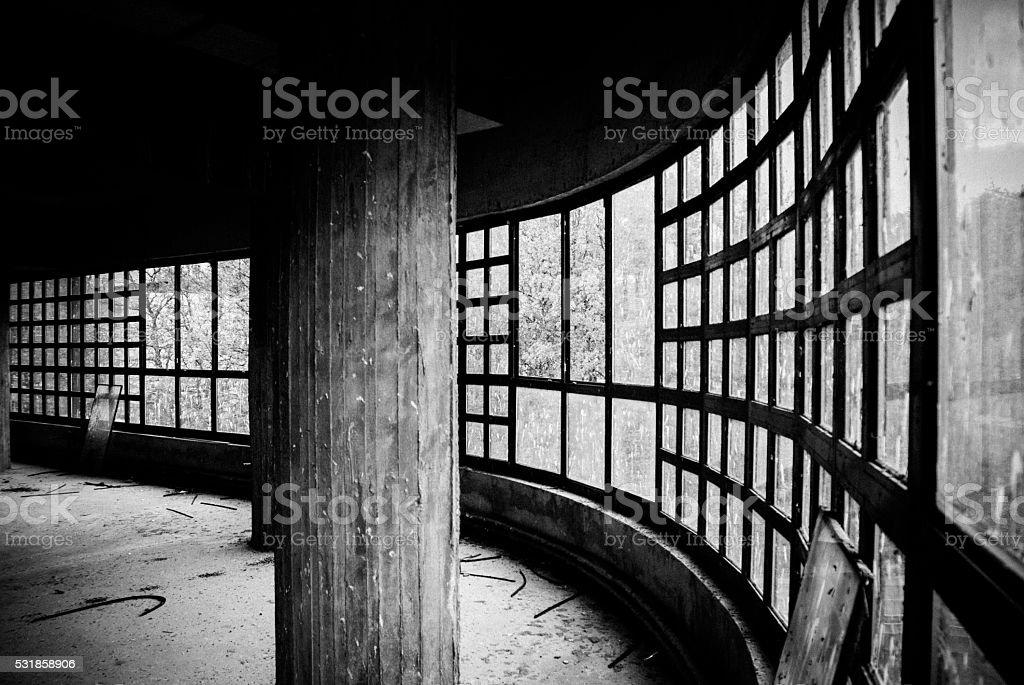 borken windows stock photo