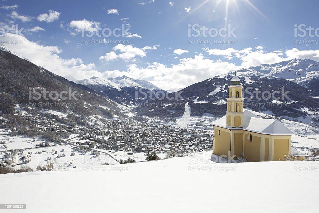 Bormio italian alps stock photo