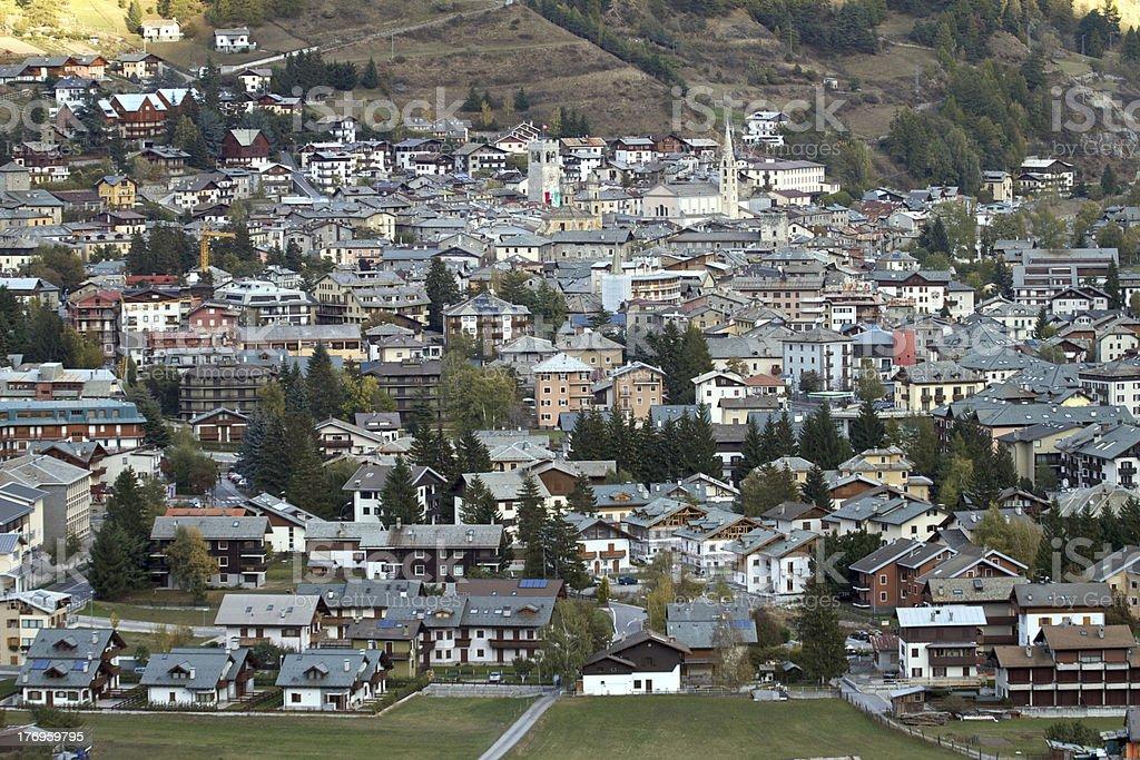 Bormio Town stock photo