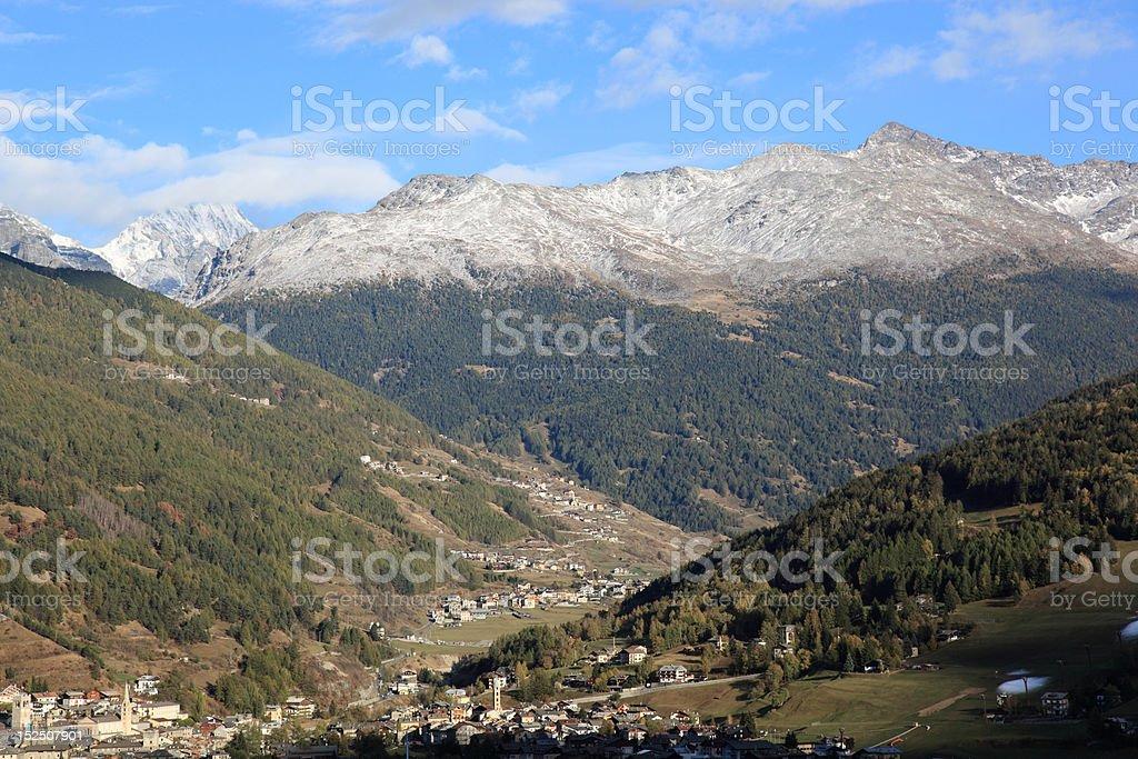 Bormio view (south direction) stock photo