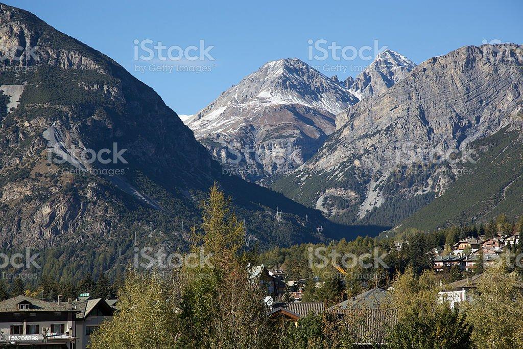 Bormio view (North direction) stock photo