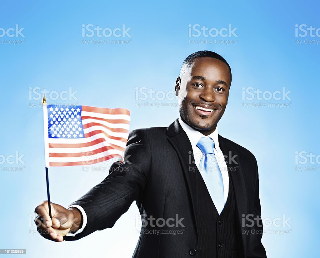 Born on the 4th of July! Patriotic American with flag royalty-free stock photo