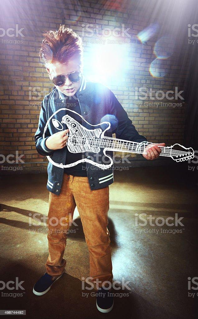 Born to be a rockstar stock photo