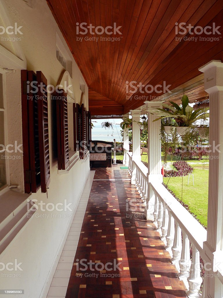 Borneo. Restored Colonial Building royalty-free stock photo