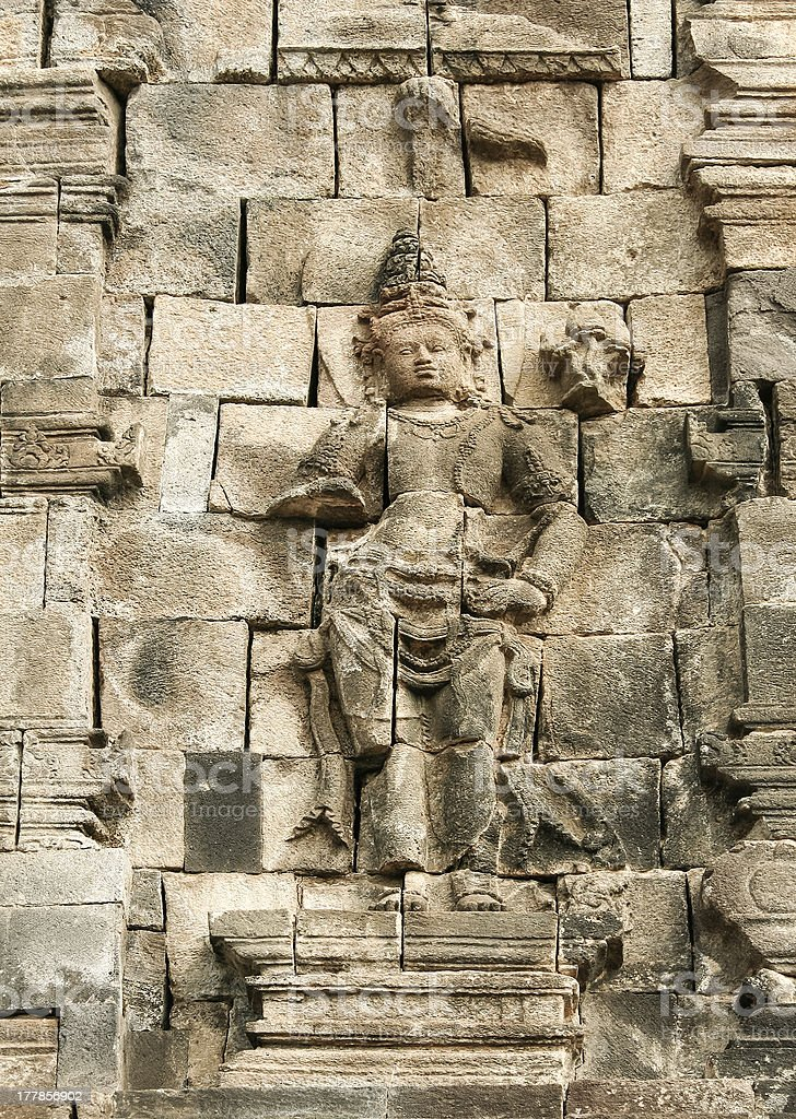 borobudur ancient wall carving art indonesia royalty-free stock photo