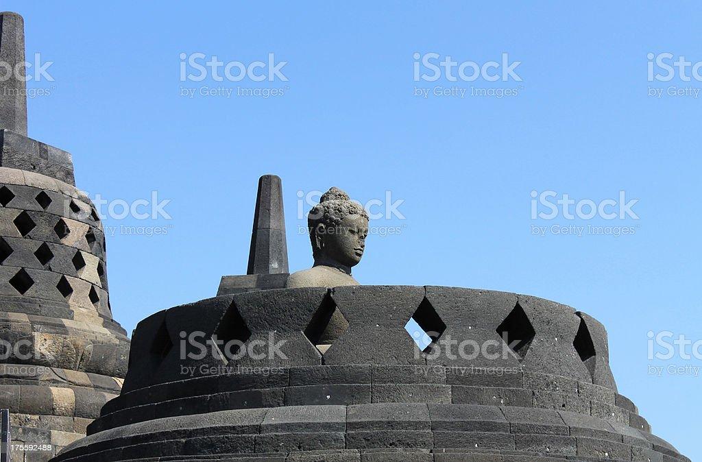 Borobudur Buddhist Temple, Indonesia royalty-free stock photo