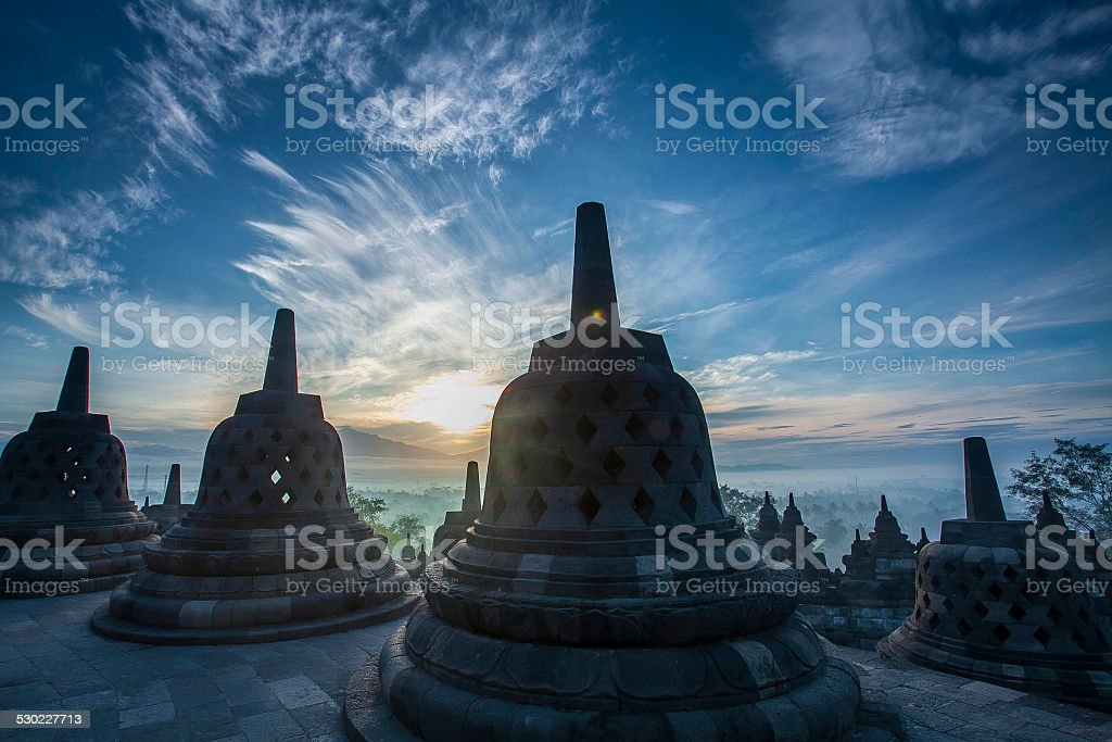 Borobudur Indonesia stock photo