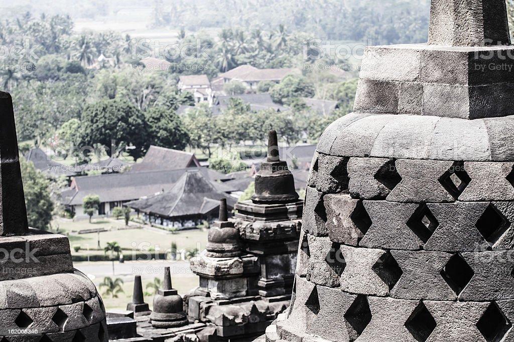 Borobudur Temple at sunrise. Yogyakarta, Java, Indonesia. royalty-free stock photo