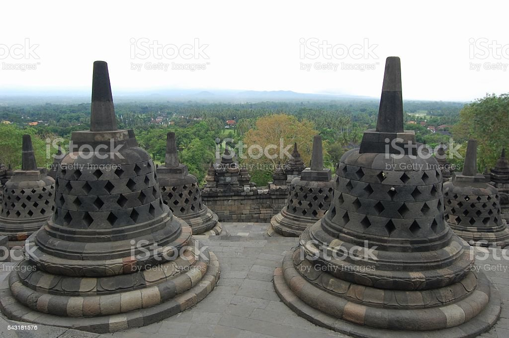 Borobudur temple, Central Java, Indonesia stock photo