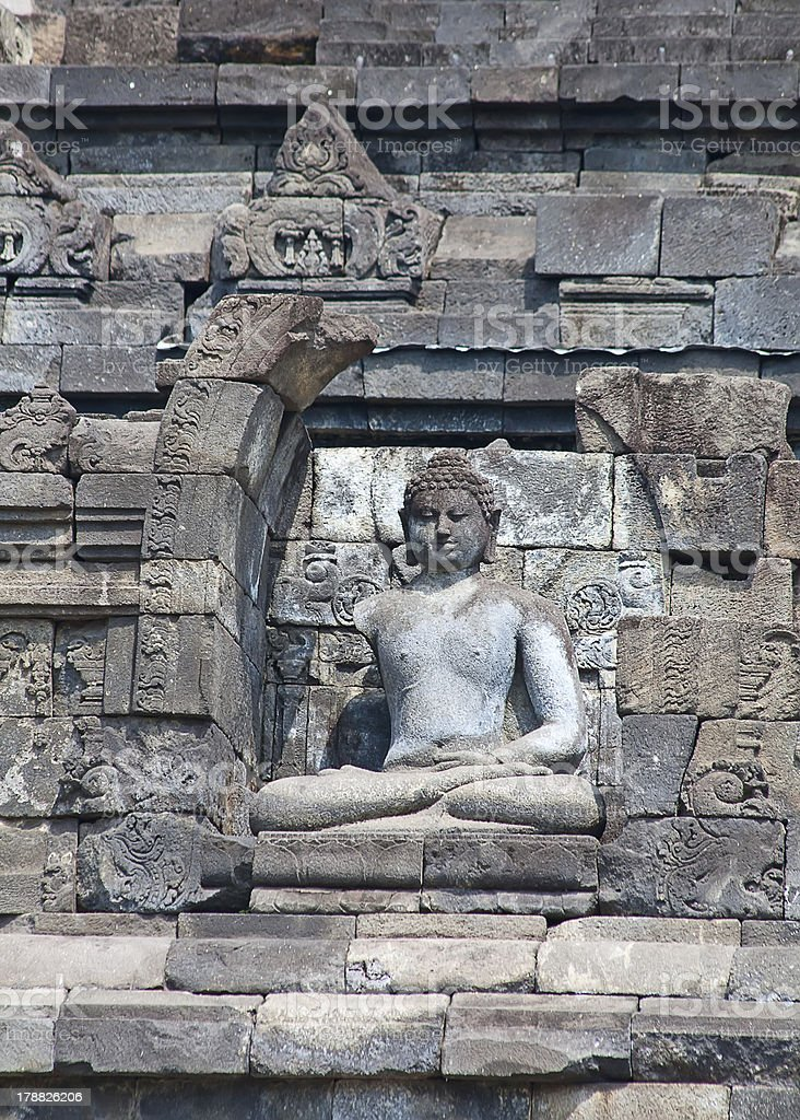 Borobudur temple in Indonesia royalty-free stock photo
