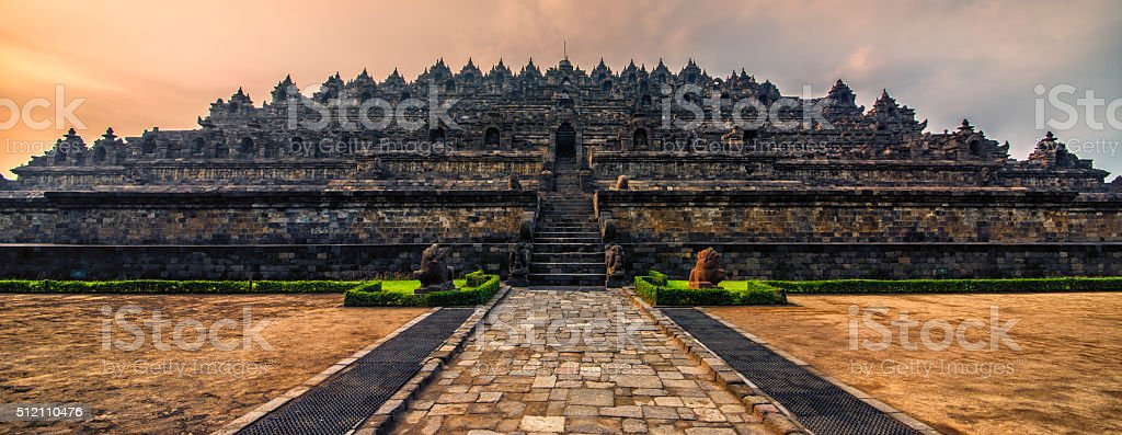 Borobudur temple in Java stock photo