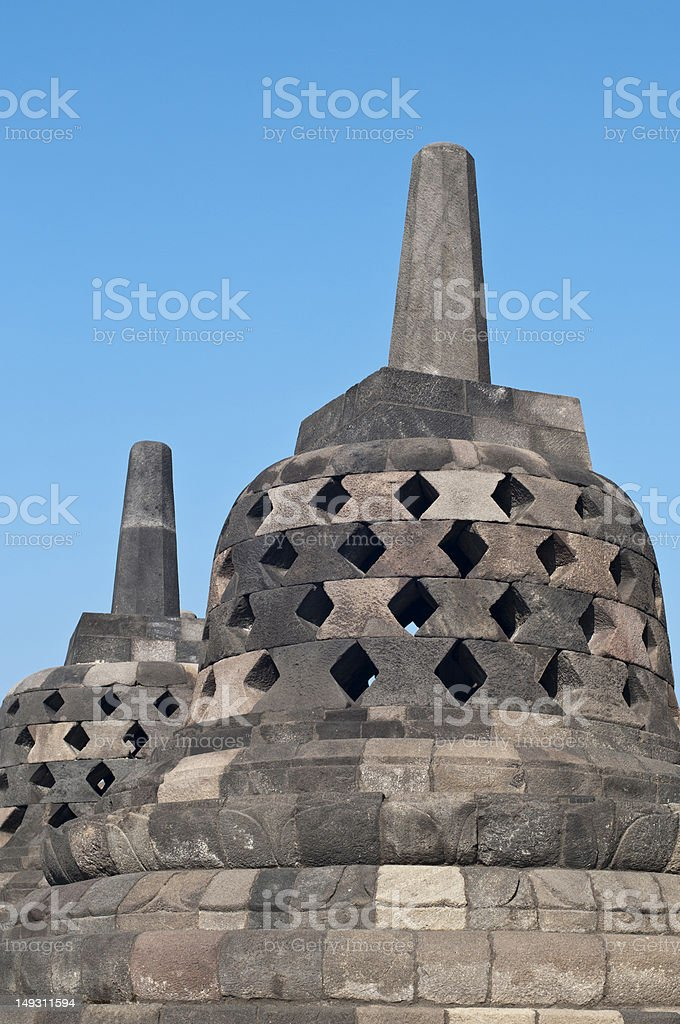 Borobudur temple in Jogjakarta stock photo