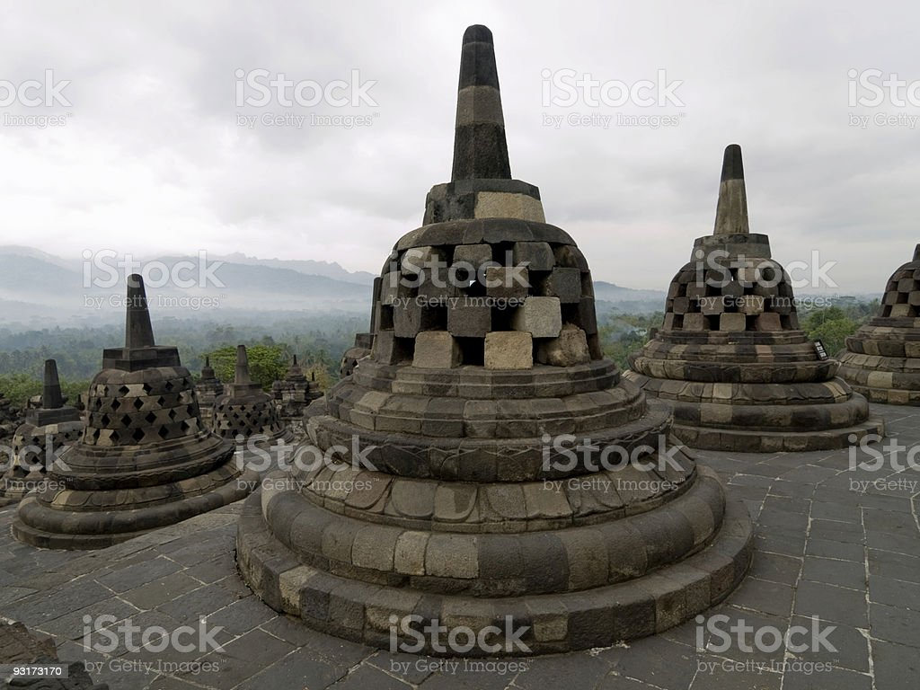 Borobudur temple Indonesia royalty-free stock photo