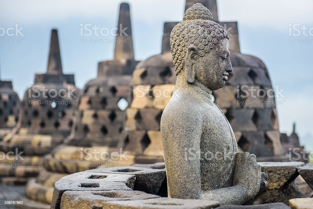 Borobudur temple, Java, Indonesia stock photo