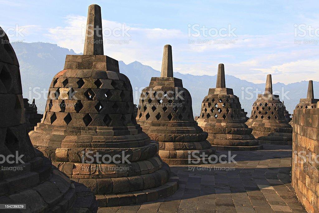 Borobudur Temple Stupa royalty-free stock photo