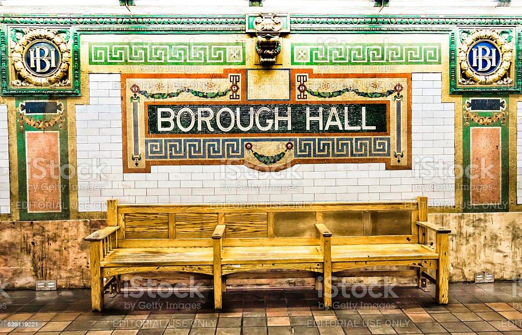 Borough Hall New York City Subway Station. stock photo