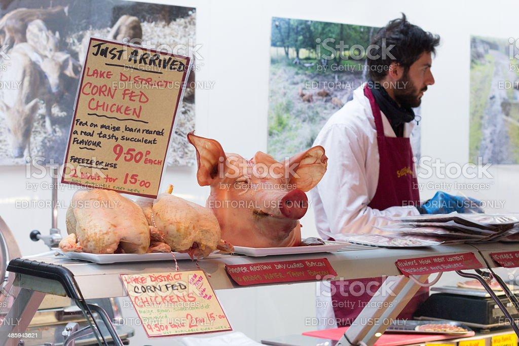 Borough Market in London, England stock photo