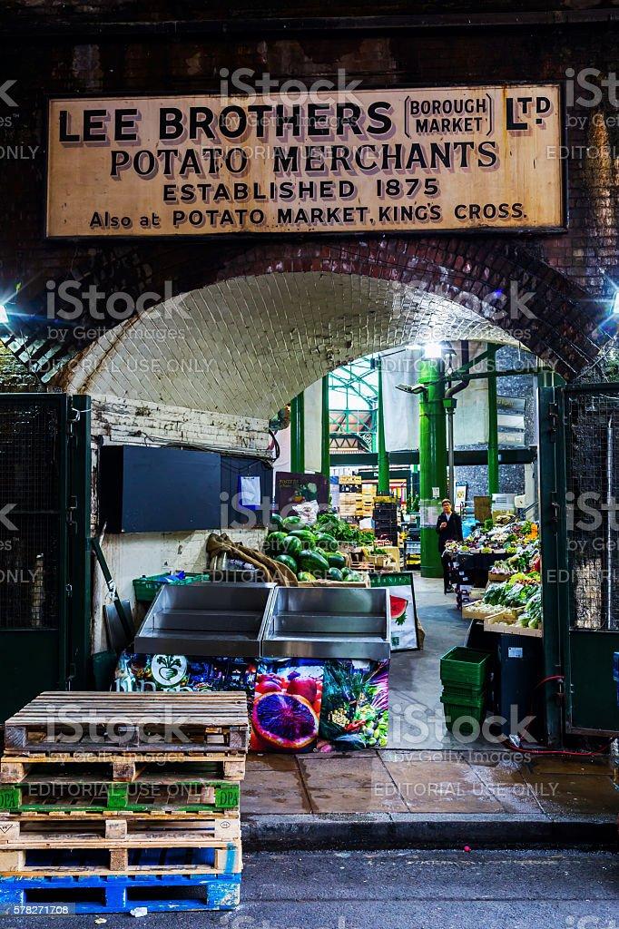 Borough Market in London, UK stock photo
