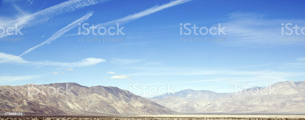 Borrego Valley in Anza-Borrego State Park royalty-free stock photo