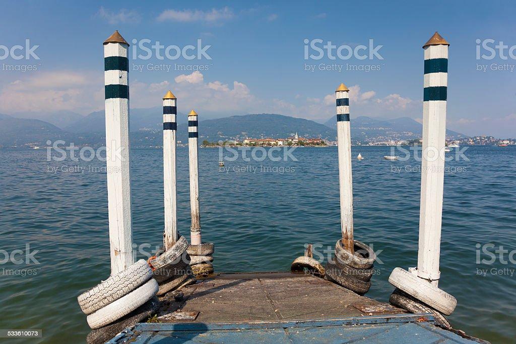 Borromean Islands, Lake Maggiore stock photo