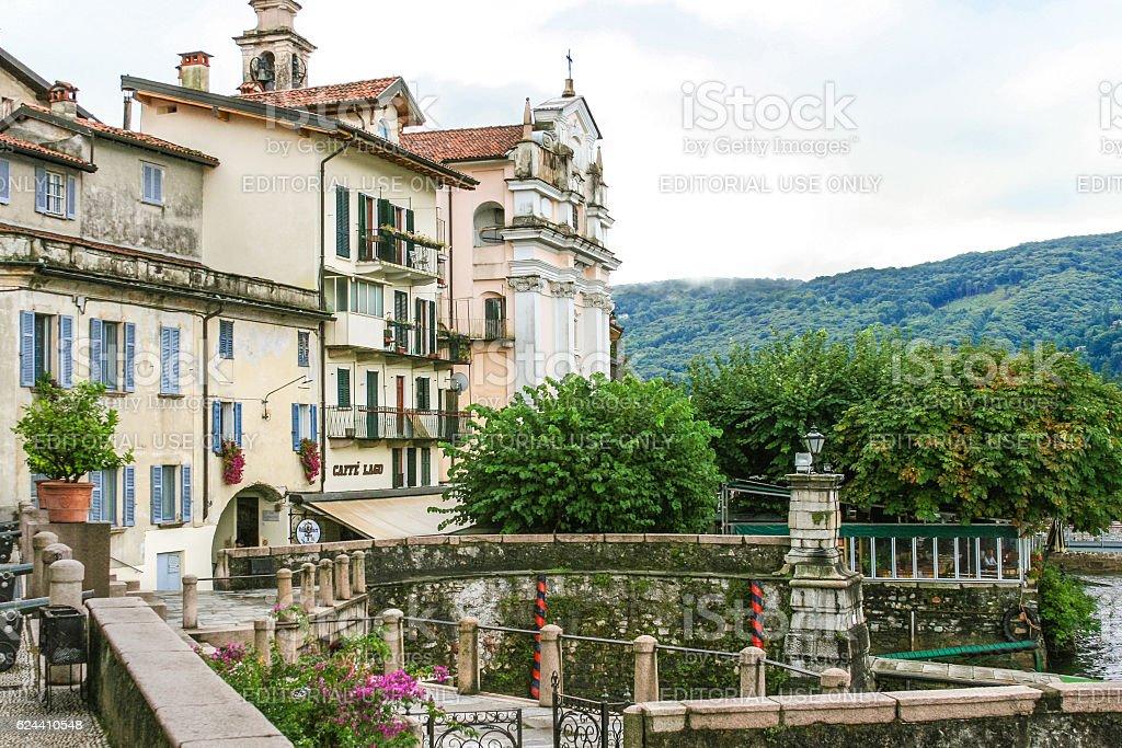 Borromeo Palace on Isola Bella, Lake Maggiore, Italy. stock photo