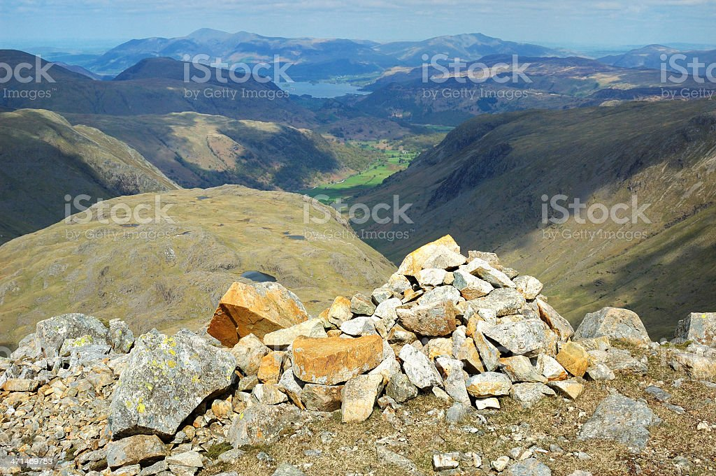 Borrowdale and Derwent Water stock photo