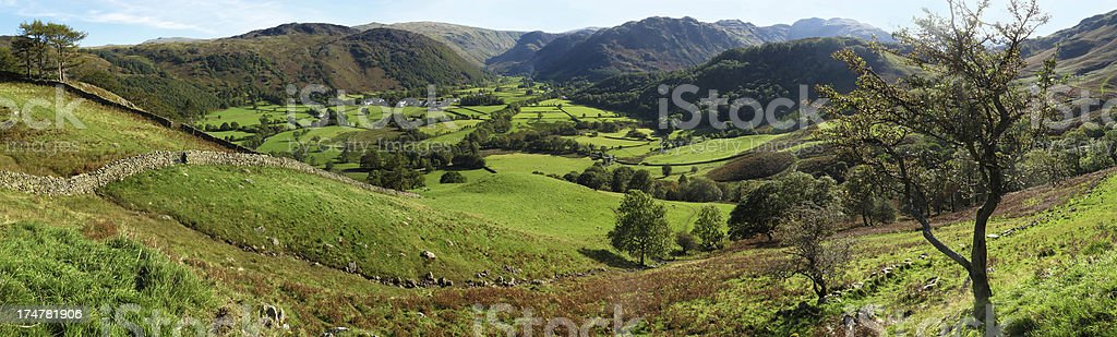 Borrowdale Panorama stock photo
