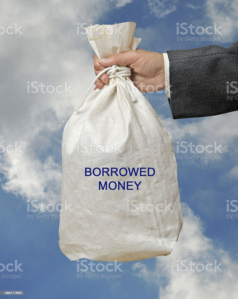 Borrowed money stock photo