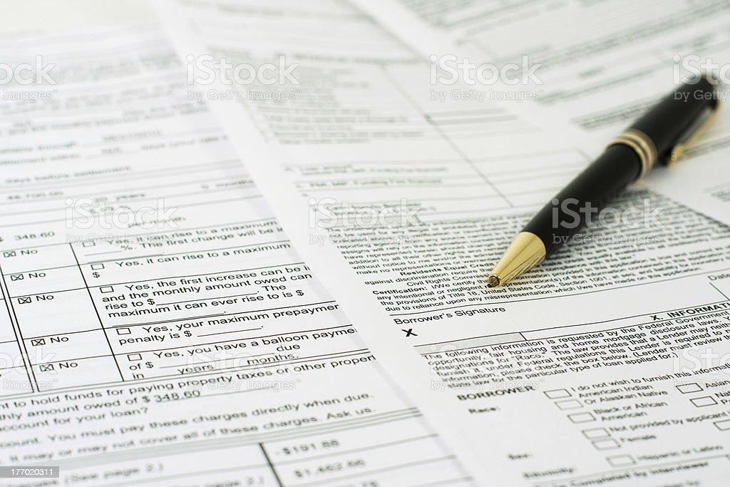Borrower's Signature stock photo