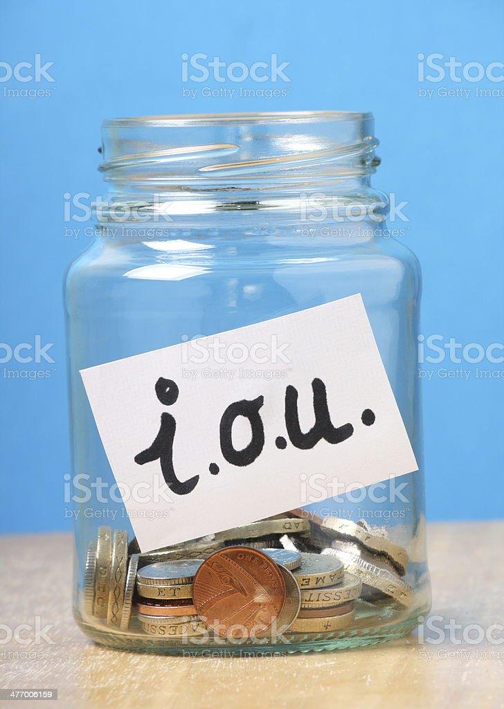 Borrowing Money Concept stock photo