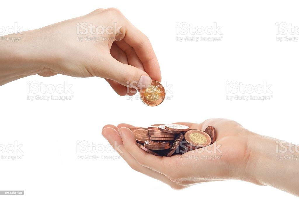 Borrowing money stock photo