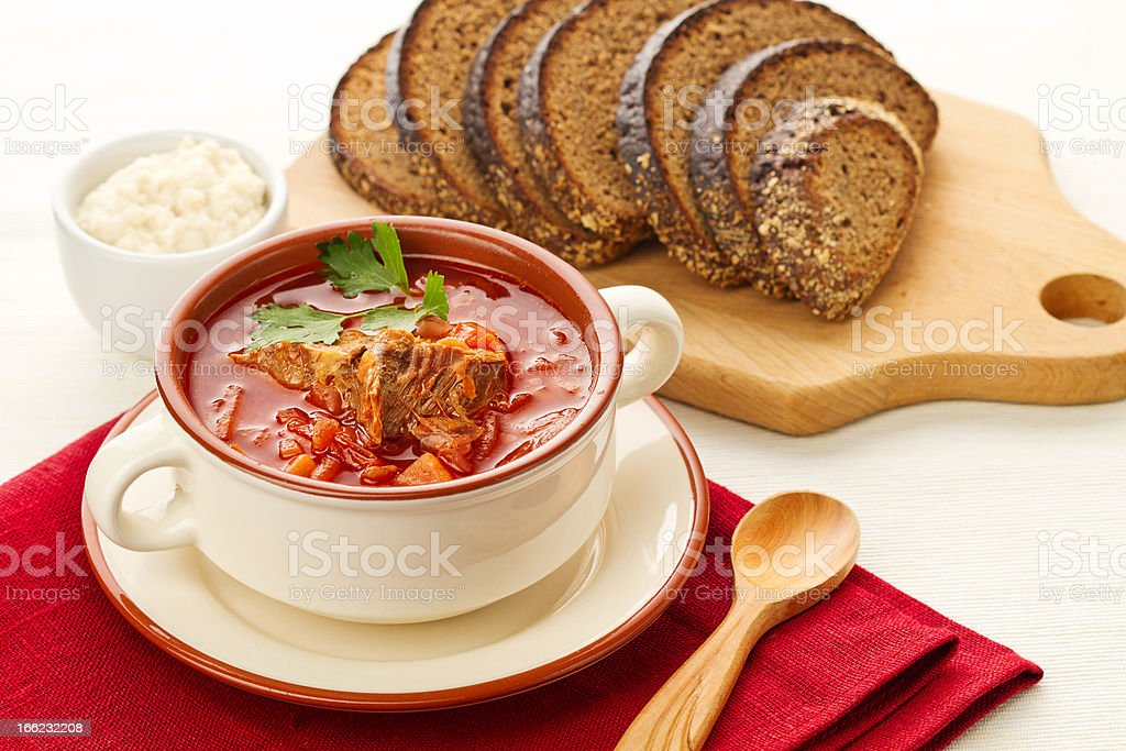 borsch soup stock photo