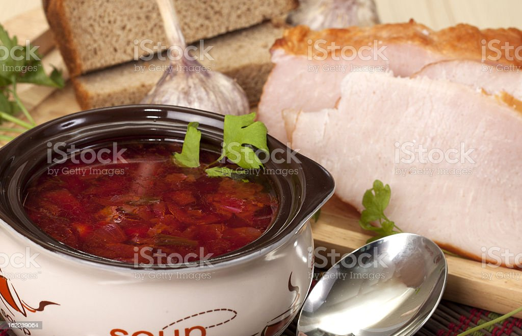 Borscht royalty-free stock photo