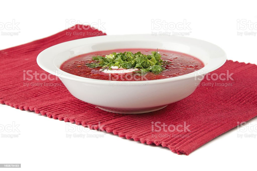 Borscht Soup royalty-free stock photo