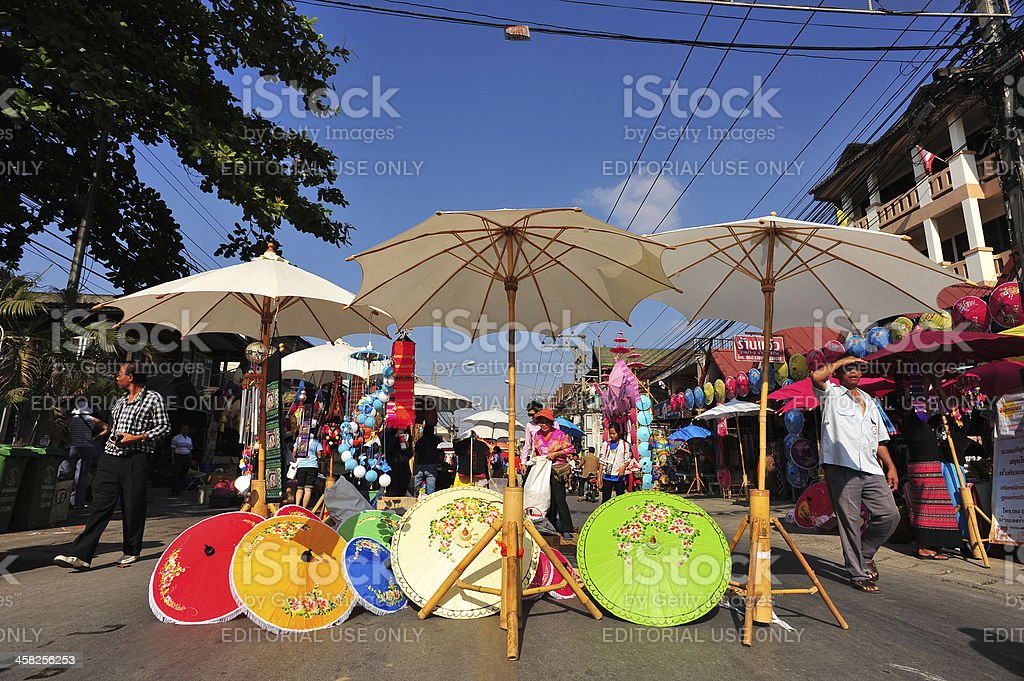 Bosang umbrella festival 2013 royalty-free stock photo