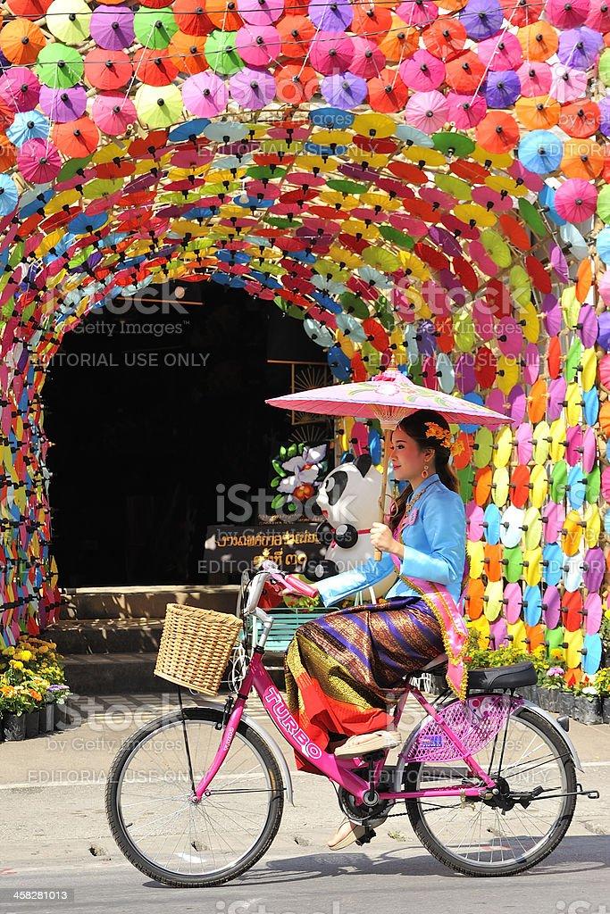 Bosang umbrella festival 2013 royalty-free stock photo