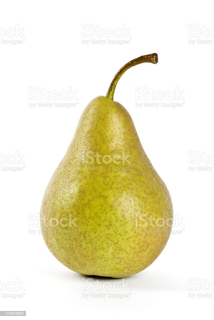 Bosc Pear Isolated on White stock photo
