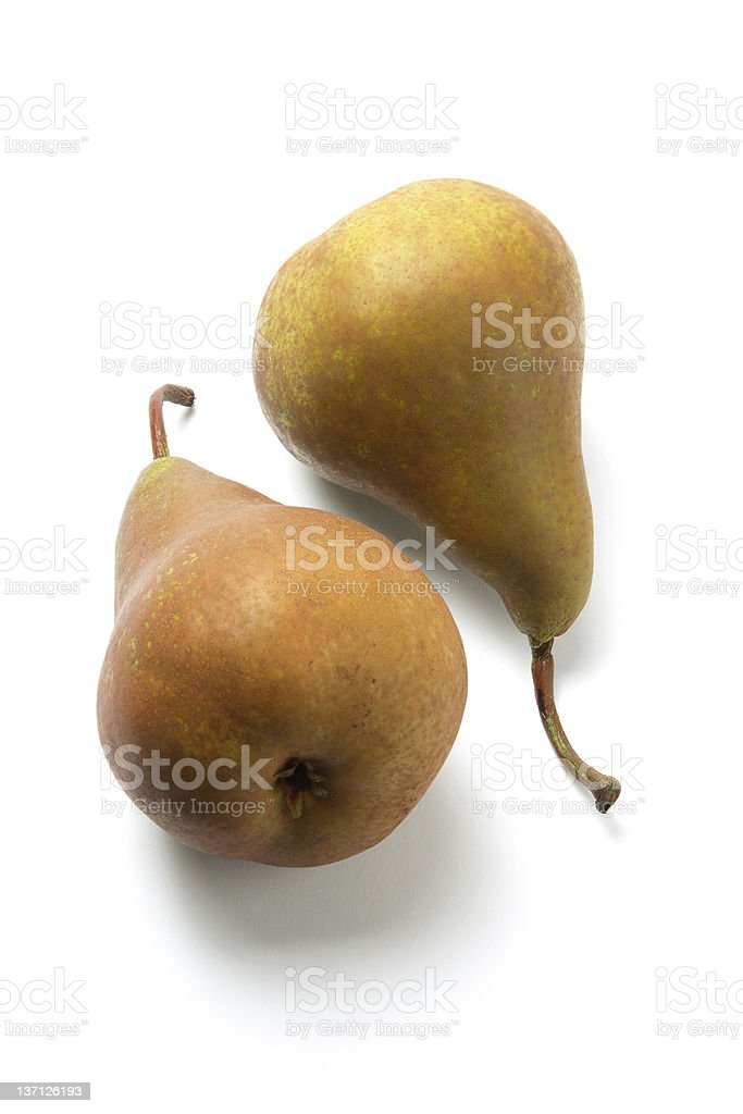 Bosc Pears stock photo