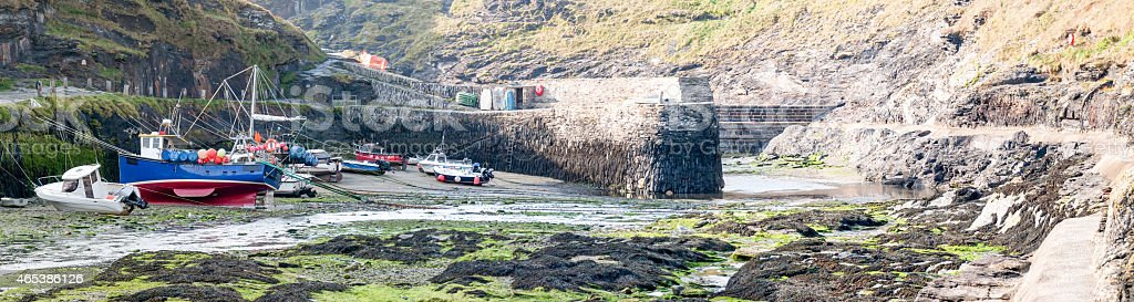 Boscastle harbour royalty-free stock photo