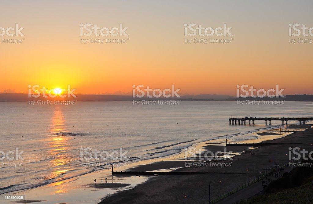 Boscombe Beach and Purbecks stock photo