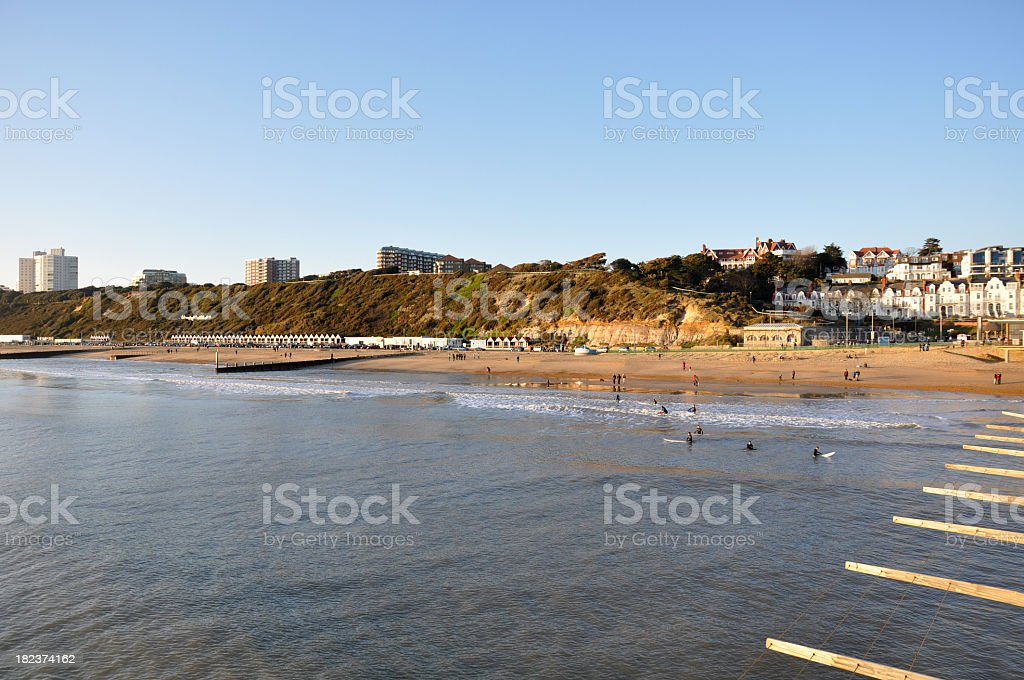 Boscombe Beach from Pier stock photo
