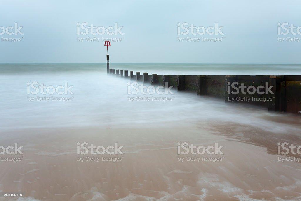 Boscombe Beach stock photo