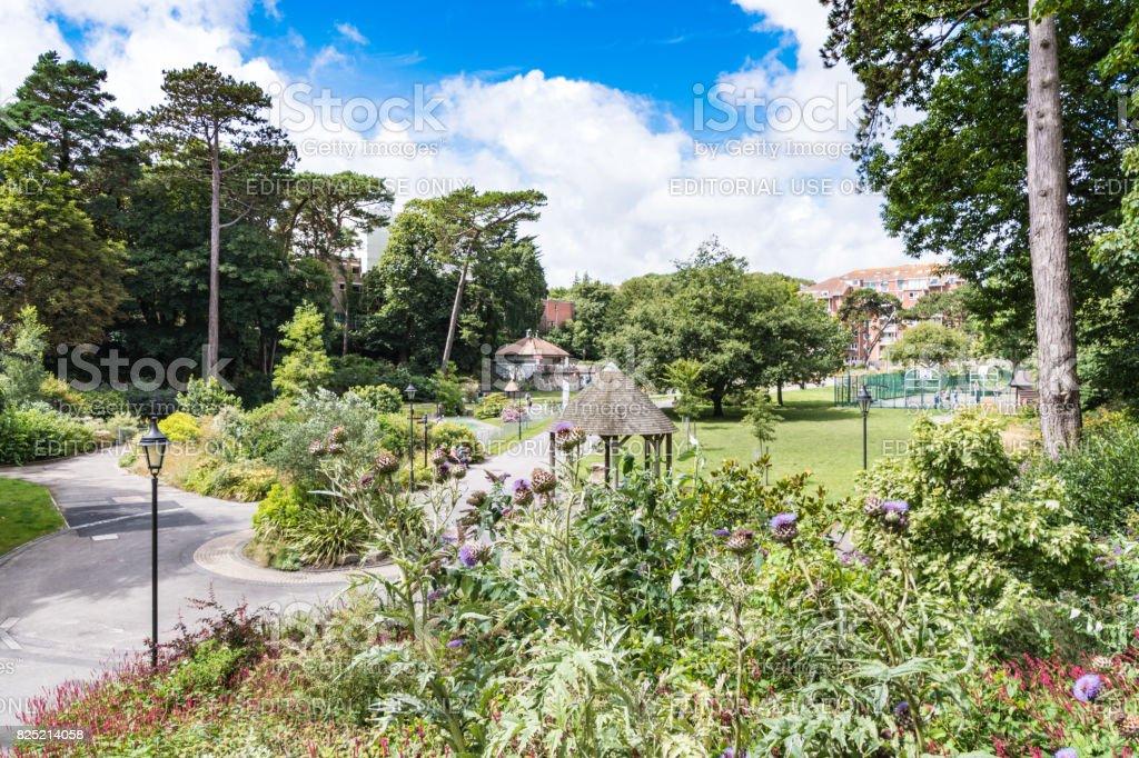 Boscombe Chine Gardens in Bournemouth stock photo