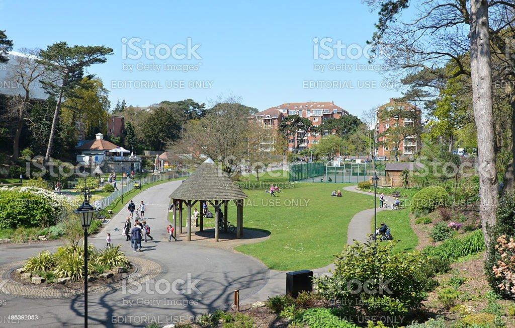Boscombe Chine Gardens stock photo