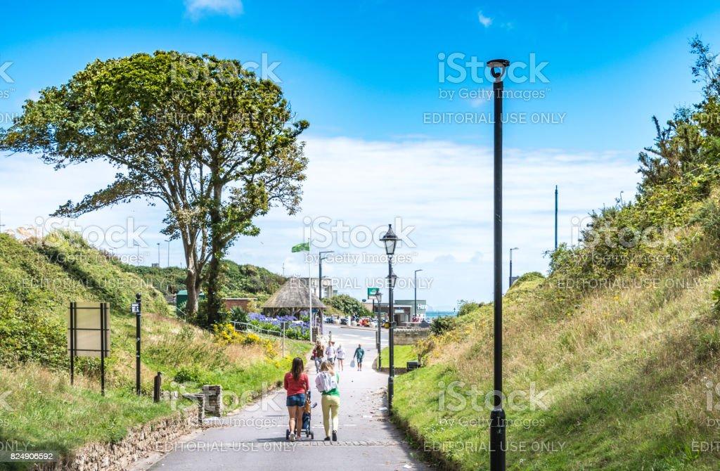 Boscombe Chine walk to the beach in Bournemouth stock photo