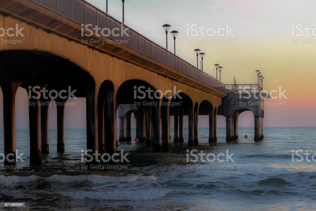 Boscombe Pier at Dusk stock photo