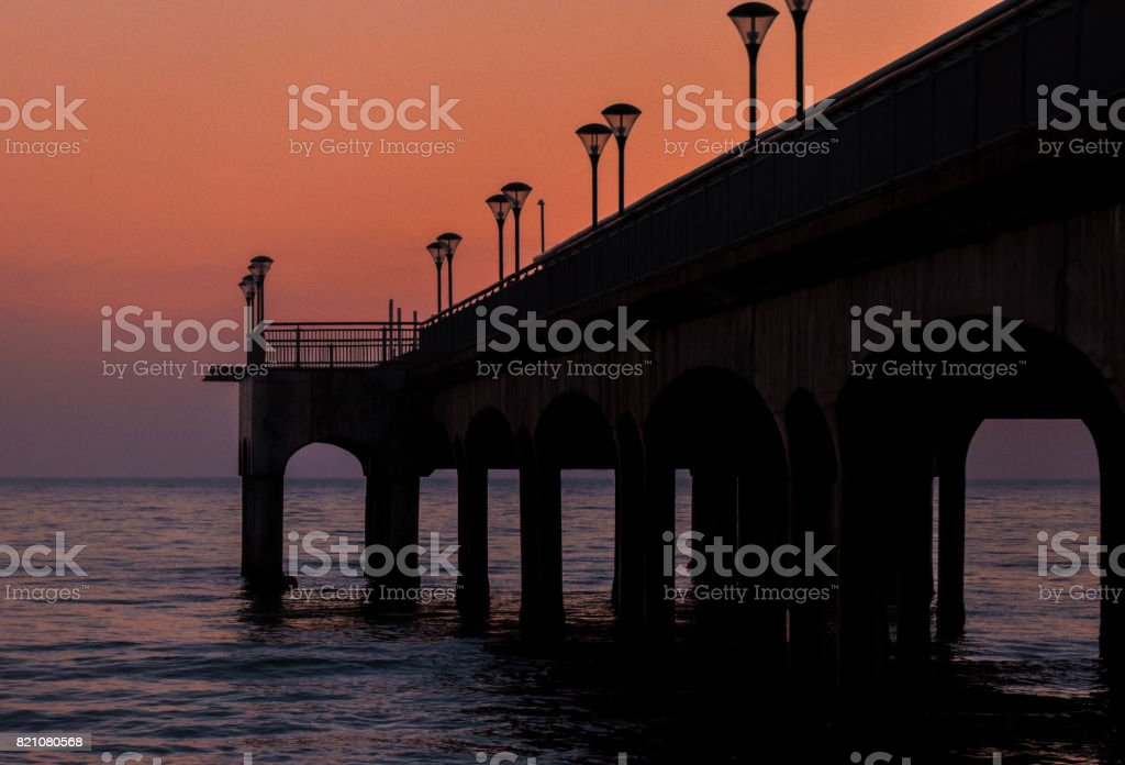 Boscombe Pier at Sunset stock photo