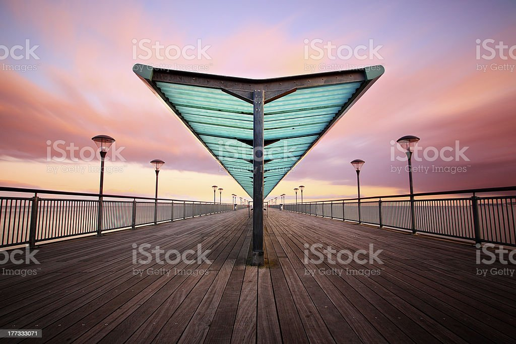 Boscombe Pier stock photo