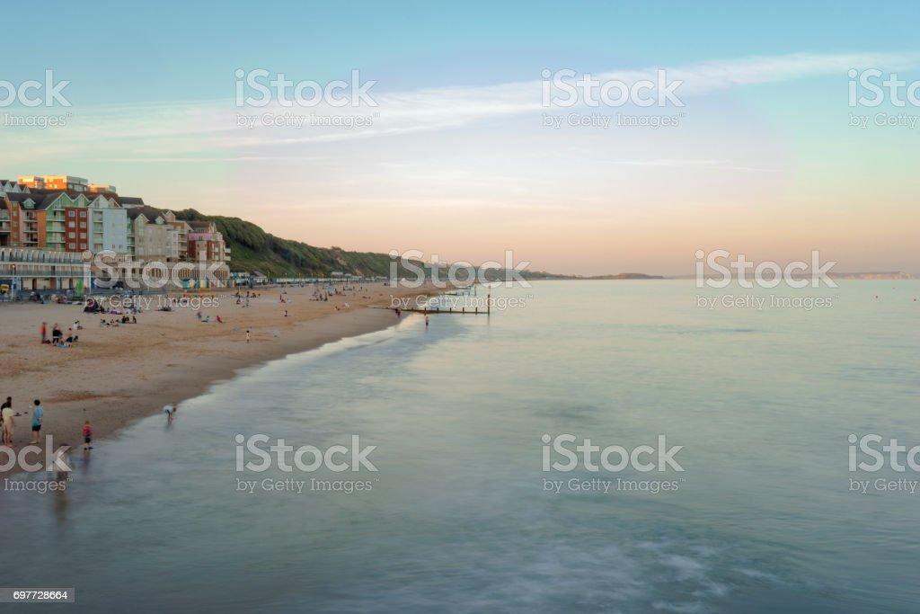 Boscome beach stock photo