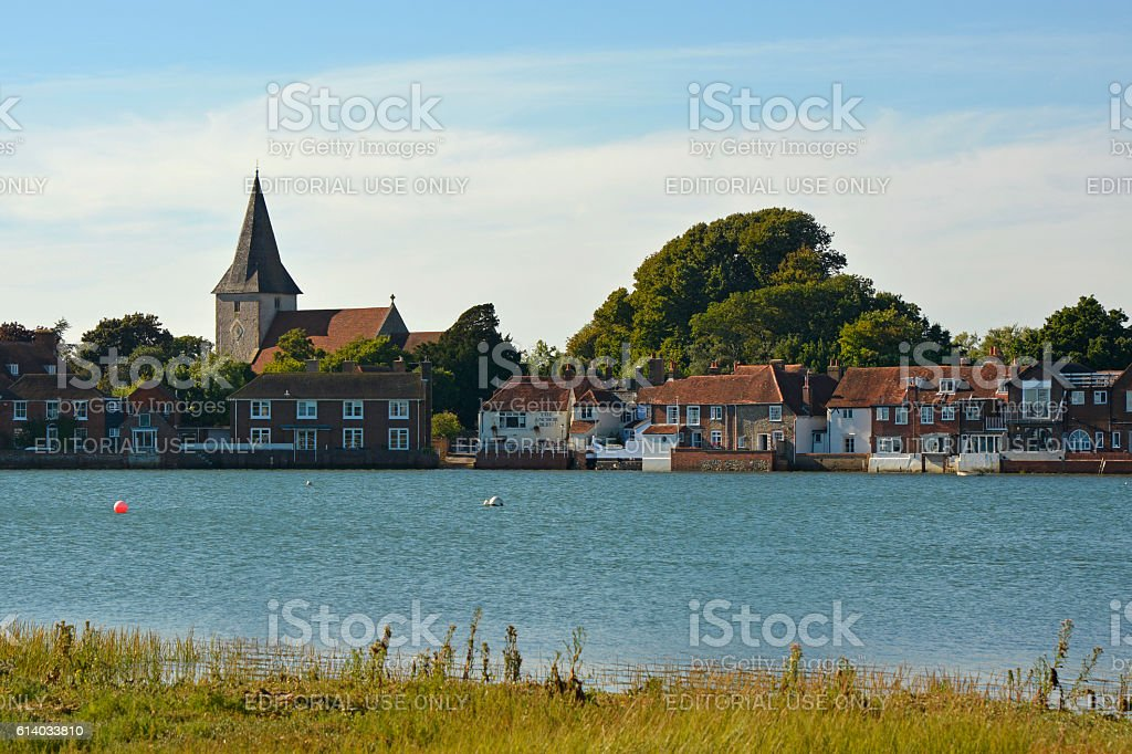Bosham at high tide, Sussex, England stock photo